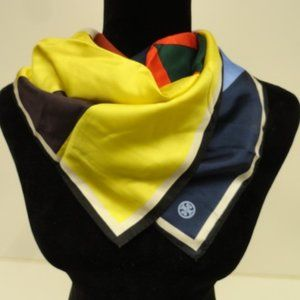 Womens Tory Burch Printed Multicolored Silk Scarf